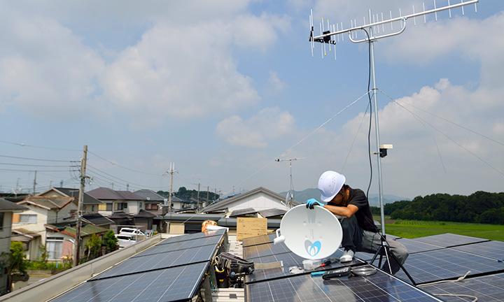 群馬県高崎市のテレビアンテナ設置の電気工事