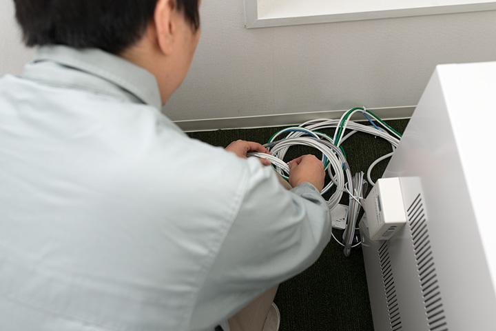 無線LANから有線へ変更